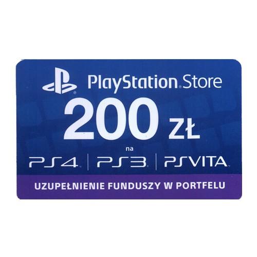 Doładowanie PlayStation Store 200 zł