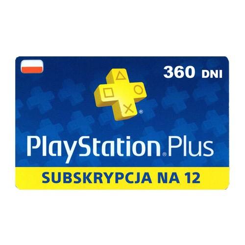 Subskrypcja PlayStation Plus 12 miesięcy