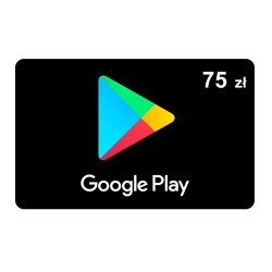 Doładowanie konta Google Play 75 zł ( kod podarunkowy )