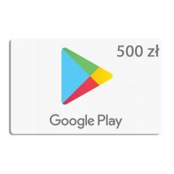 Doładowanie konta Google Play 500 zł ( kod podarunkowy )